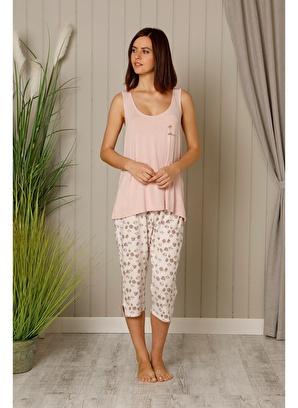 Hays  Plus Size Kadın Penye Kapri Pijama Takımı 18808b202midikapripijamatakımı  59.99 TL